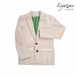 Пиджаки - Пиджак детский бежевый на мальчика, 0
