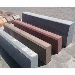 Тротуарная плитка, бордюр - Бордюр парковый 500х200х60, 0