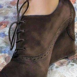 Ботильоны - 🔴 Fratelli Rossetti Италия ботинки замшевые с узорной перфорацией, 0