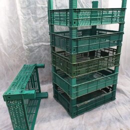 Корзины, коробки и контейнеры - Ящики пластиковые зеленые, размер 30х40х13. Тара бу, 0