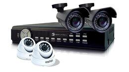 Камеры видеонаблюдения - Комплект видеонаблюдения улица+дом 4 камеры …, 0