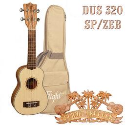 Укулеле - Flight DUS 320 SP/ZEB укулеле сопрано с чехлом, 0