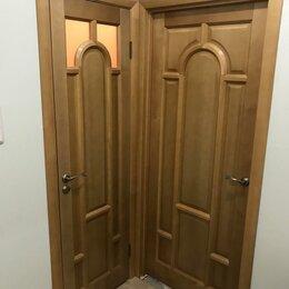 Межкомнатные двери - Двери из массива соссны тонированные лаком в наличии, 0