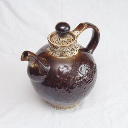 Посуда - Чайник старинный керамический (не-б/у), 0