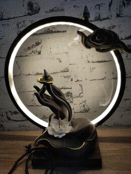 Декоративные свечи - ароматическая лампа лотос для медитации и чаепития, 0