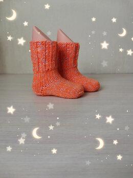 Носки - Вязаные детские носочки(ручная работа) , 0