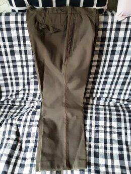 Брюки - Военные форменные брюки хаки шерсть/лавсан новые, 0
