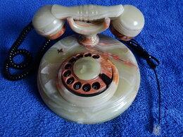 Проводные телефоны - Телефоны: ретро из оникса и кнопочный Unitel City, 0