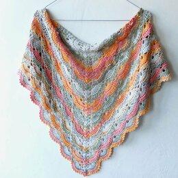 Шарфы и платки - Вязаный платок на шею, 0