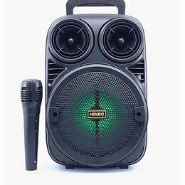 Акустические системы - Портативная Bluetooth колонка с микрофоном Kimiso KMS-3381, 0