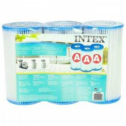 """Фильтры, насосы и хлоргенераторы - Картридж """"А"""" 3 шт. для фильтр-насосов INTEX, 0"""