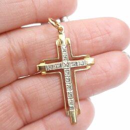 Кулоны и подвески - Золотой крест с бриллиантами, 0