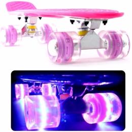 Скейтборды и лонгборды - Скейтборд, пенни борд светящиеся колеса, 0