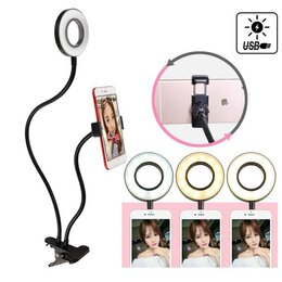 Фотоаппараты - Лампа и держатель для телефона на прищепке, 0
