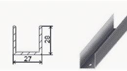 Гипсокартон и комплектующие - Профиль Направляющий ПН 27х28 (3м) 0,5 мм, 0