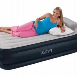 Кровати - Односпальна кровать новая надувная с встроен насосом, 0