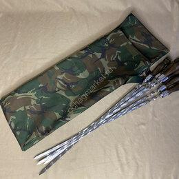 Шампуры - Набор 9 шампуров (40х12)+ чехол (зеленый), 0