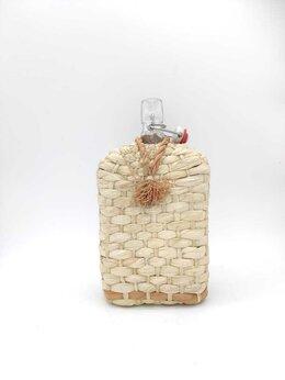 Бутылки - Стеклянная бутылка Викинг в оплетке, с бугельной…, 0
