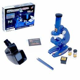 Детские микроскопы и телескопы - Микроскоп детский «Юный исследователь» 2 в 1, 0