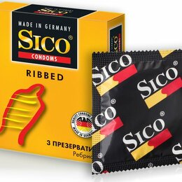 Презервативы - Презервативы Sico Colo ребристые 3 шт, 0