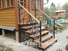 Лестницы и элементы лестниц - Металлическое крыльцо с коваными перилами -…, 0