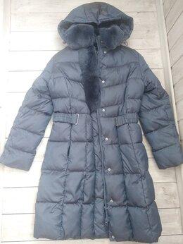 Куртки и пуховики - Зимний  пуховик пальто с ремнем на талии., 0