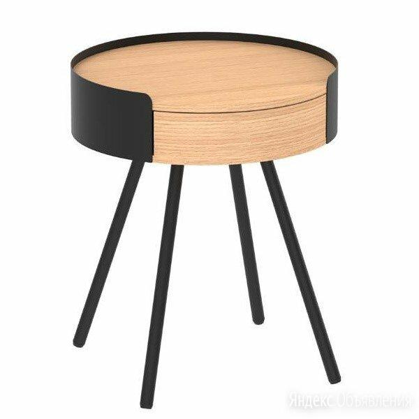 Столик прикроватный черно-коричневый  по цене 21420₽ - Столы и столики, фото 0