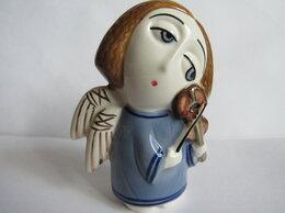 Статуэтки и фигурки - Ангел со скрипкой авторская керамика Вербилки, 0