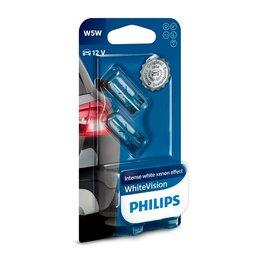 Лампочки - Комплект ламп W5W Philips 12V White Vision, 0
