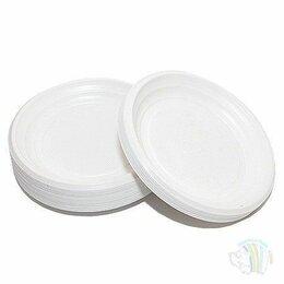 Тарелки - Тарелка десертная белая пластиковая в упаковке…, 0