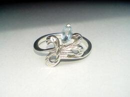 Кольца и перстни - Кольцо серебро СССР 925 проба, клеймо, топаз…, 0