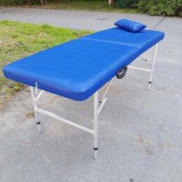 Массажные столы и стулья - Массажный новый синий стол с регулируемой высотой , 0