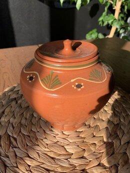 Декоративная посуда - Глиняный горшок с крышкой, 0