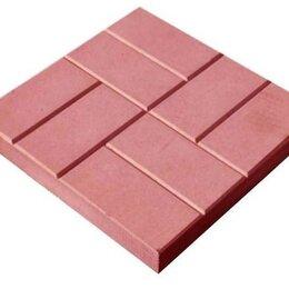 Тротуарная плитка, бордюр - Тротуарная плитка 400*400*50 8 кирпичей красная, 0