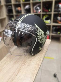 Мотоэкипировка - Бабл Визор на кнопках на мото шлем подъемный, 0