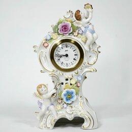 Часы настольные и каминные - Ангелы фарфор часы Германия ручная работа, 0