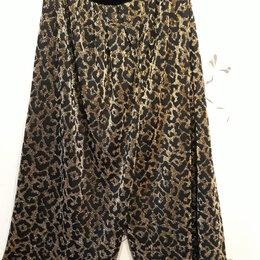 Брюки - широкие черные с золотом брюки.Италия., 0