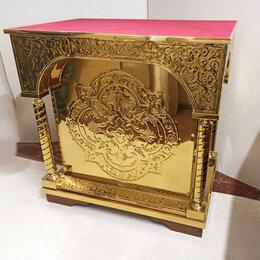 Дизайн, изготовление и реставрация товаров - Панихидный стол с чеканкой по булату для храма (90x60см, на заказ), 0