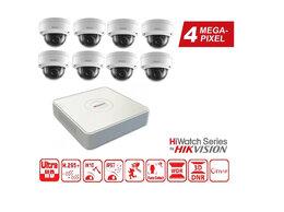 Готовые комплекты - Видеонаблюдение на 8 камер 4MP HiWatch (IP-POE)., 0