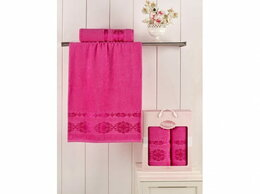 Полотенца - Комплект полотенец Karna махровое Rebeka (2 шт.), 0