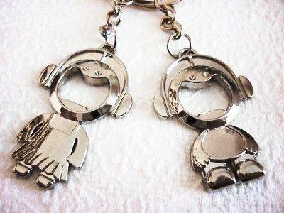 """Брелок набор 2 штуки """"Мальчик + девочка"""" по цене 180₽ - Брелоки и ключницы, фото 0"""