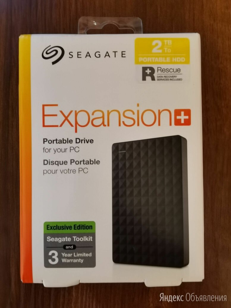 Внешний жесткий диск HDD Seagate Expansion+ 2TB по цене 4490₽ - Жёсткие диски и SSD, фото 0
