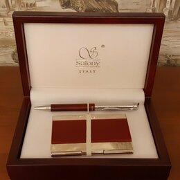 Подарочные наборы - Набор подарочный ручка+визитница (бизнес-аксессуар), 0