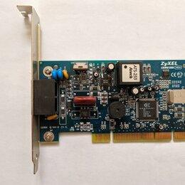 Прочее сетевое оборудование - Dial-up Модем ZyXEL OMNI 56K PCI Plus (voice), 0