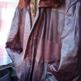 Куртки - Кожаная зимняя куртка, 0