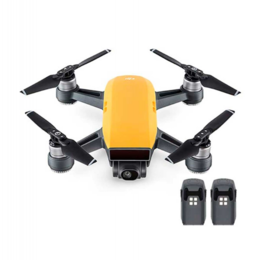 Квадрокоптеры - Квадрокоптер Spark + 2 доп. батареи, желтый, 0