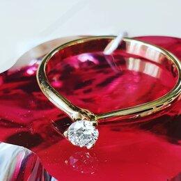 Кольца и перстни - Помолвочное кольцо с бриллиантом, 0