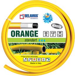 """Шланги и комплекты для полива - Шланг поливочный Belamos ORANGE 1/2""""х25м  , 0"""