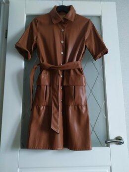 Платья - Платье из экокожи, 0