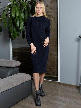 Платья - Темно-синие платье с длинным рукавом, Латвия, 0